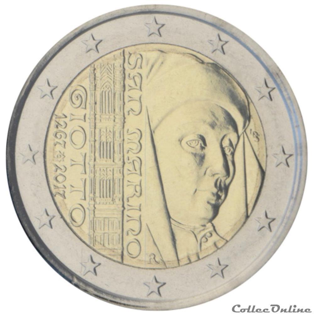 monnaie 2 euro saint marin 2017