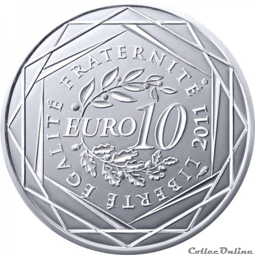 monnaie france 10 euros rhone alpes 2011