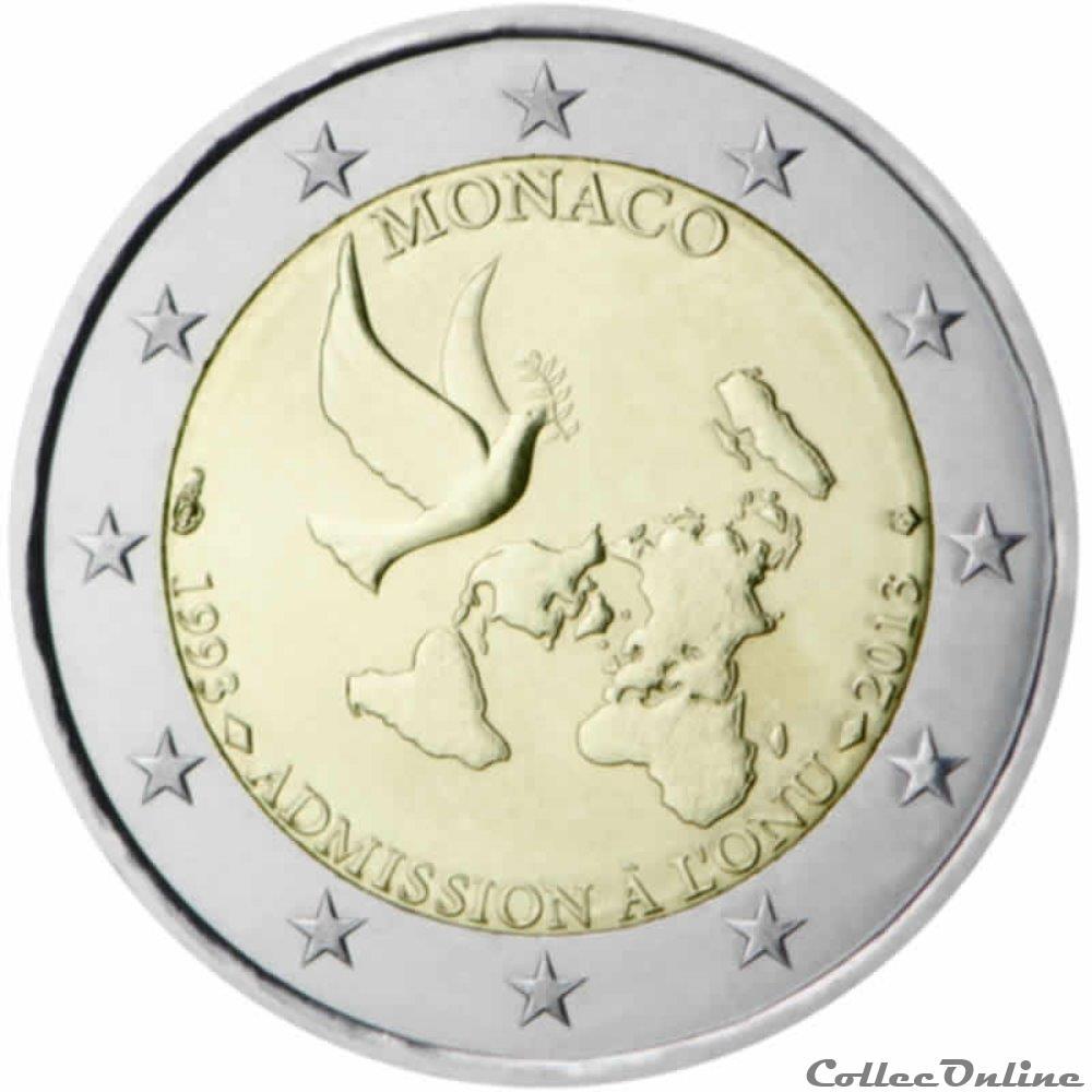 monnaie 2 euro monaco 2013