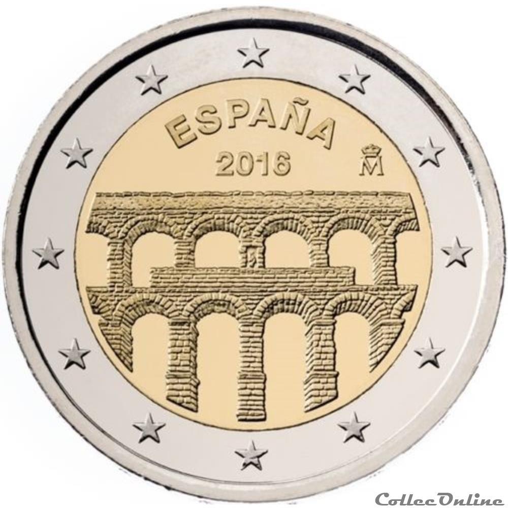 monnaie 2 euro espagne 2016