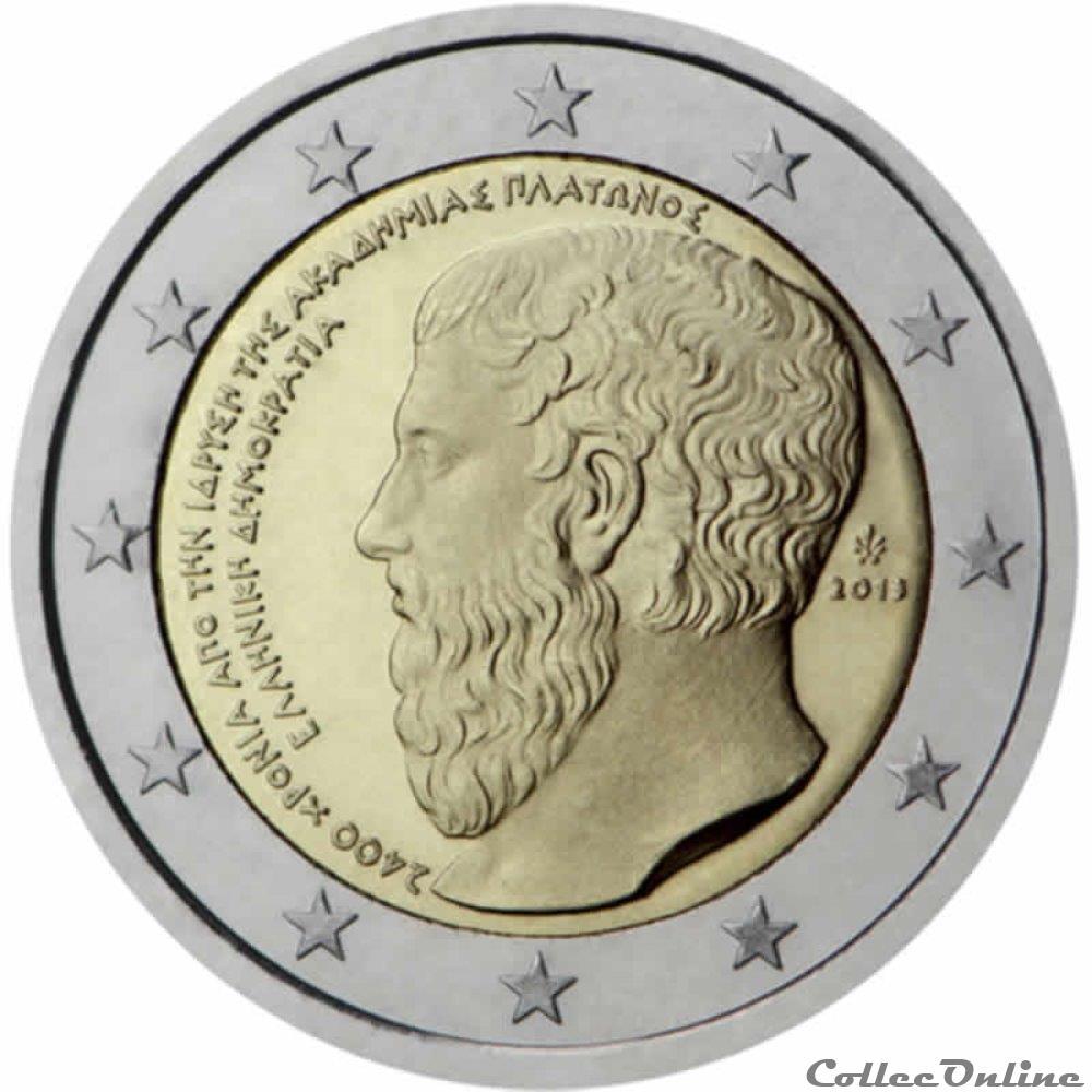 monnaie 2 euro grece 2013