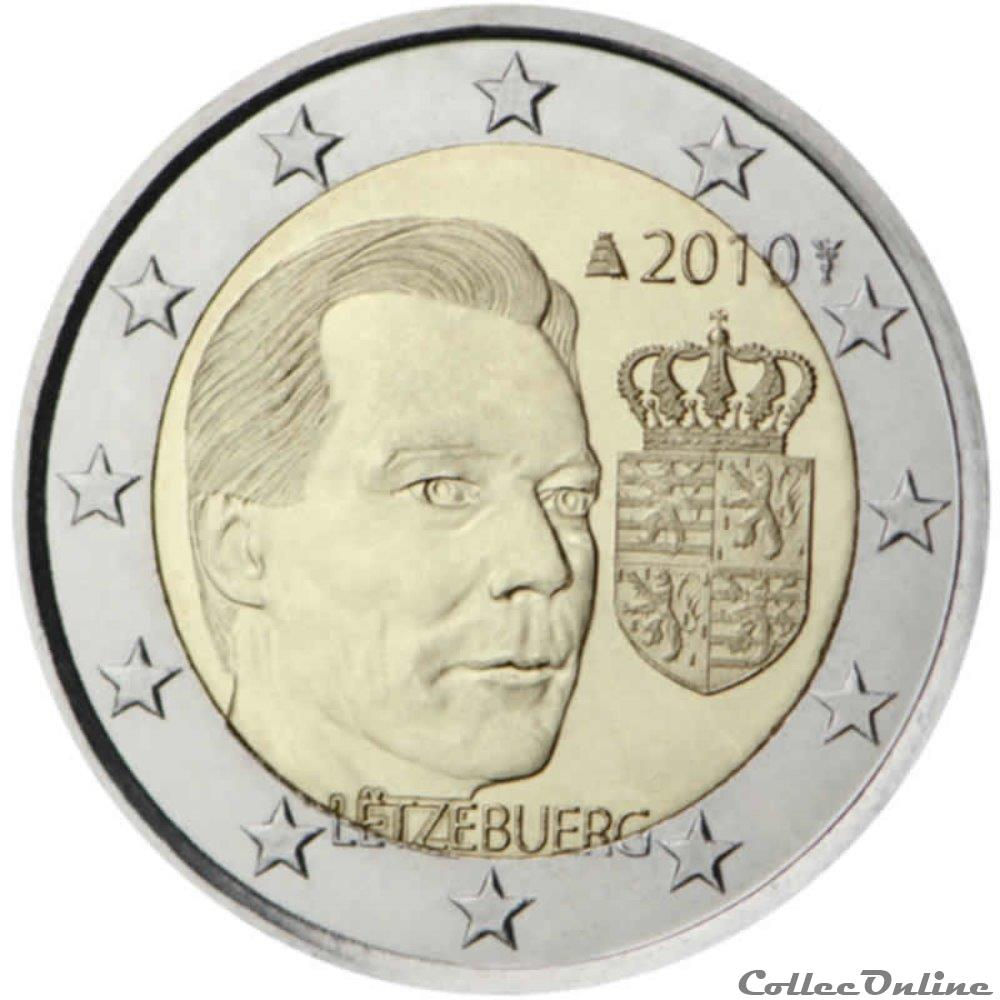 monnaie 2 euro luxembourg 2010
