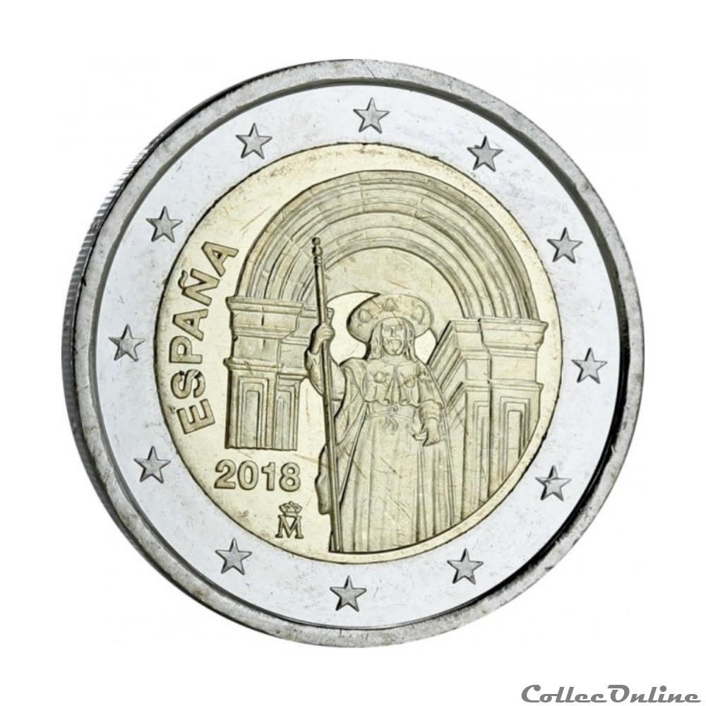 monnaie 2 euro espagne 2018
