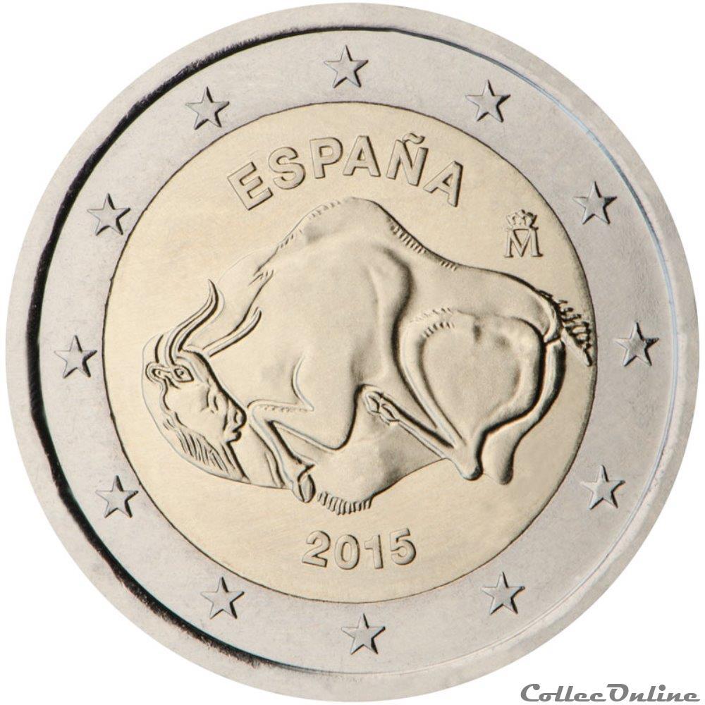 monnaie 2 euro espagne 2015