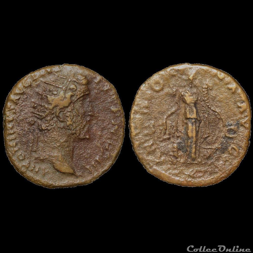 monnaie antique av jc ap romaine antonin le pieux dupondius 153 154 rome inedit