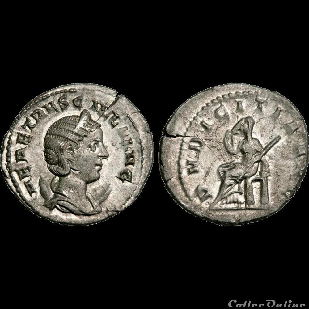 monnaie antique av jc ap romaine etruscille antoninien 250 rome 6e officine