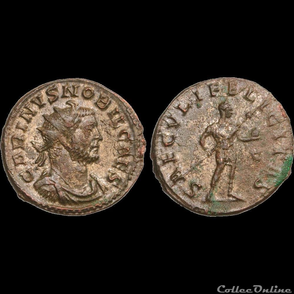 monnaie antique romaine carin aurelianus 283 lyon 4e officine ruban type 3