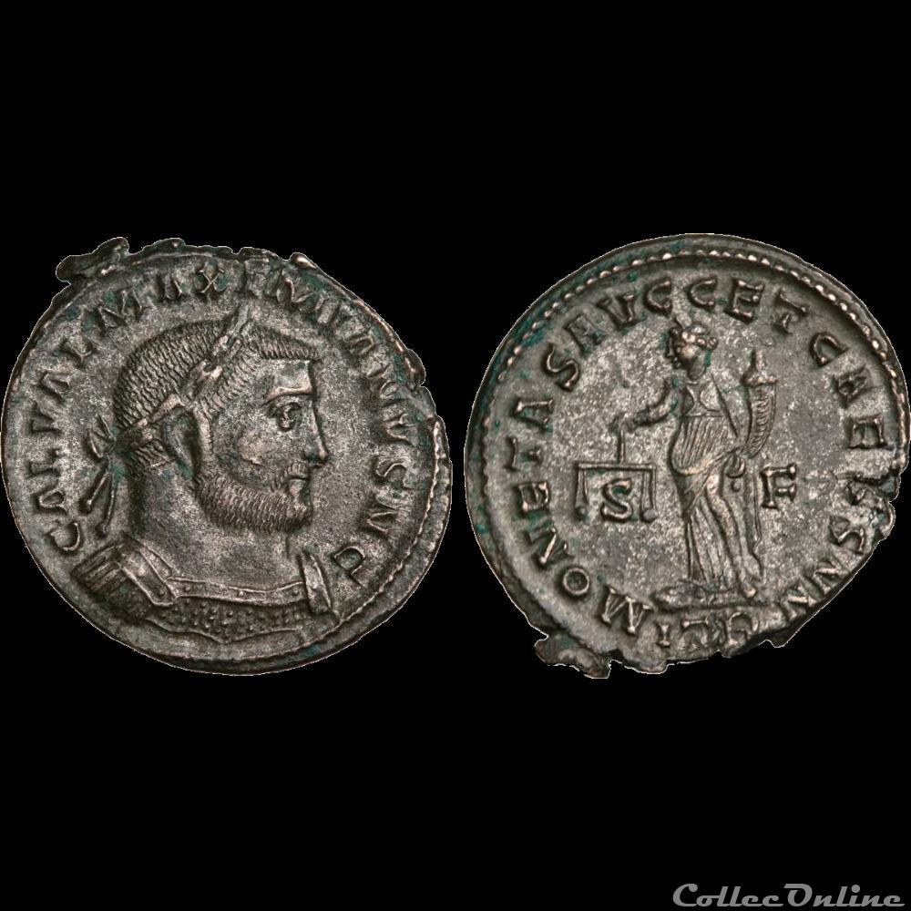 monnaie antique av jc ap romaine galere follis ou nummus 302 303 treves 1er officine