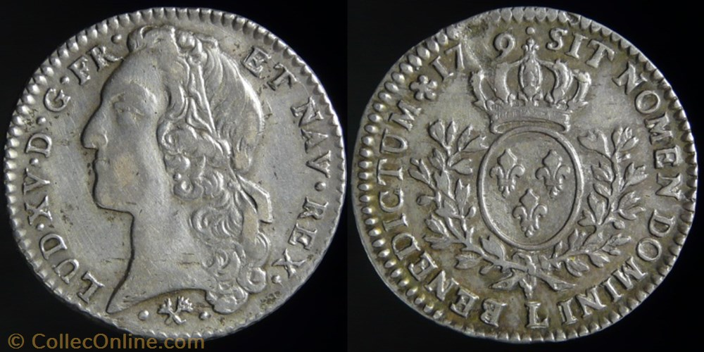 monnaie france royale louis xv 1715 1774 cinquieme ecu au bandeau 1759 l