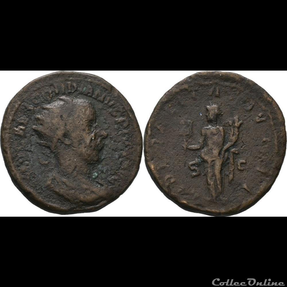 monnaie antique jc ap romaine dupondius 3e emission 2e phase liberalitas avg ii