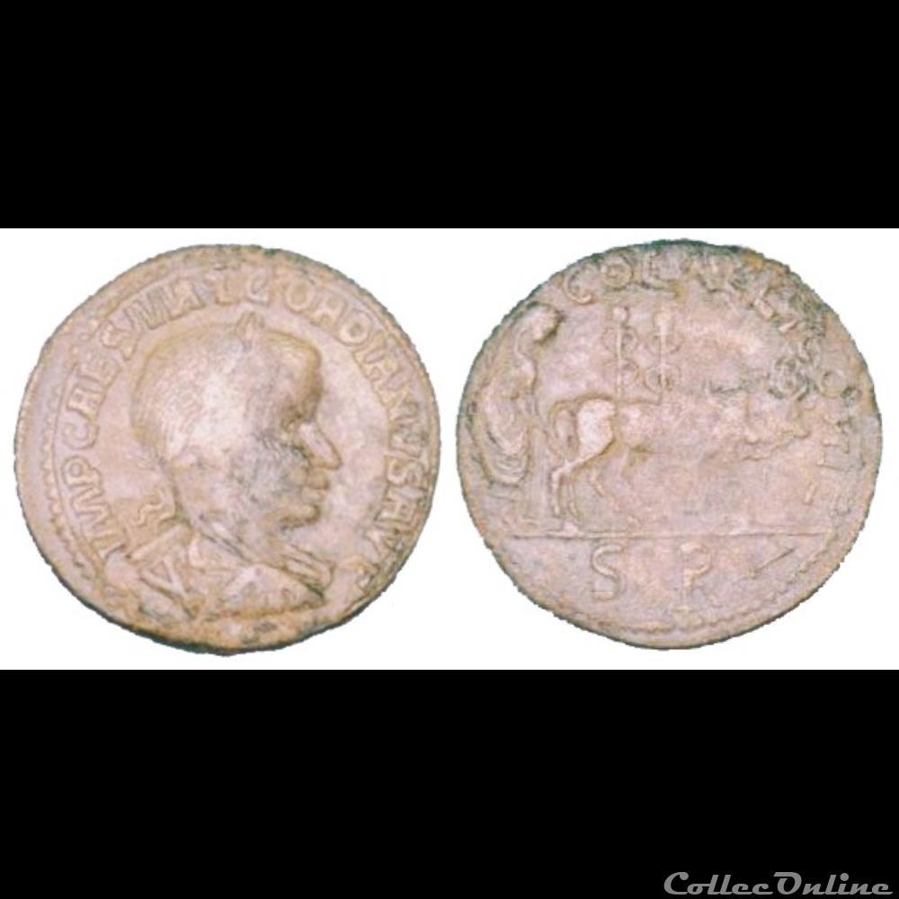 monnaie antique av jc ap romaine provinciale ae 33 pretre labourant