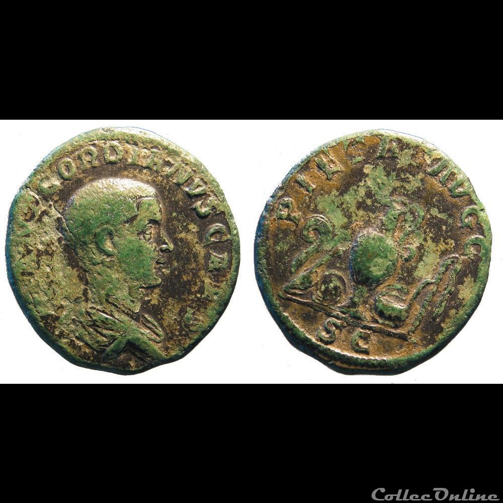 monnaie antique romaine sesterce gordien caesar