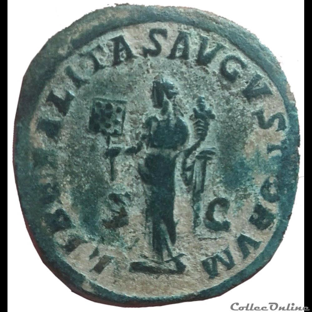 monnaie antique av jc ap romaine sesterce gordien iii caesar hybride