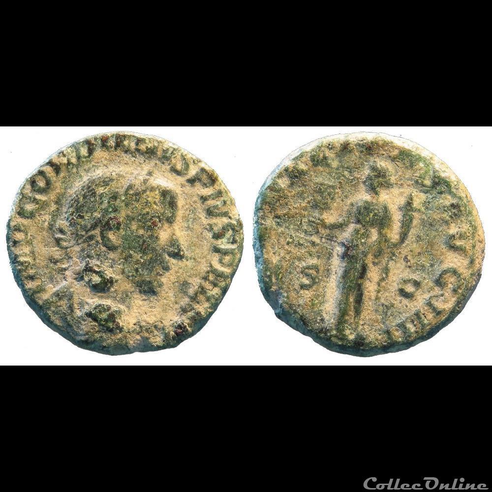 monnaie antique romaine as 4e emission liberalitas avg iiii simple corne