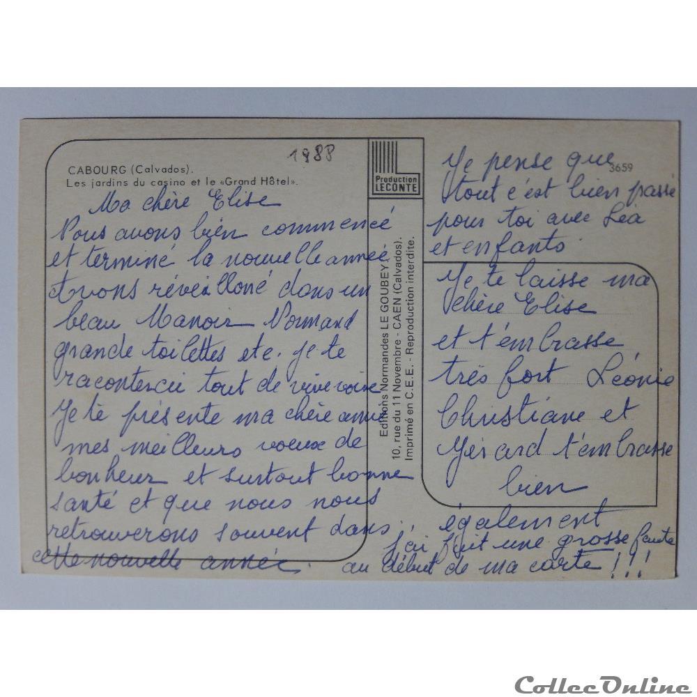 CP du Calvados, Cabourg : Cartes Postales, France, Basse-Normandie...