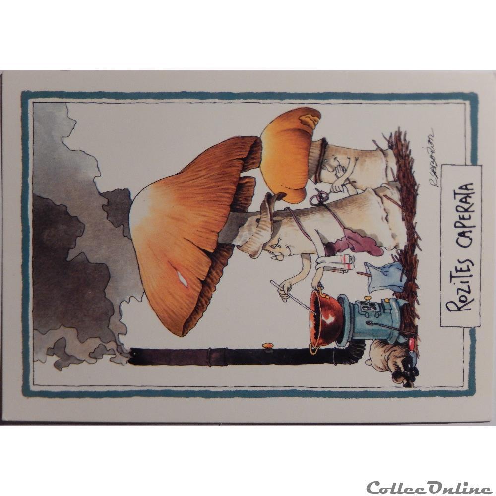 Carte Postale Alsace Humour.Cp Humour Champignons Cartes Postales Cartes Postales