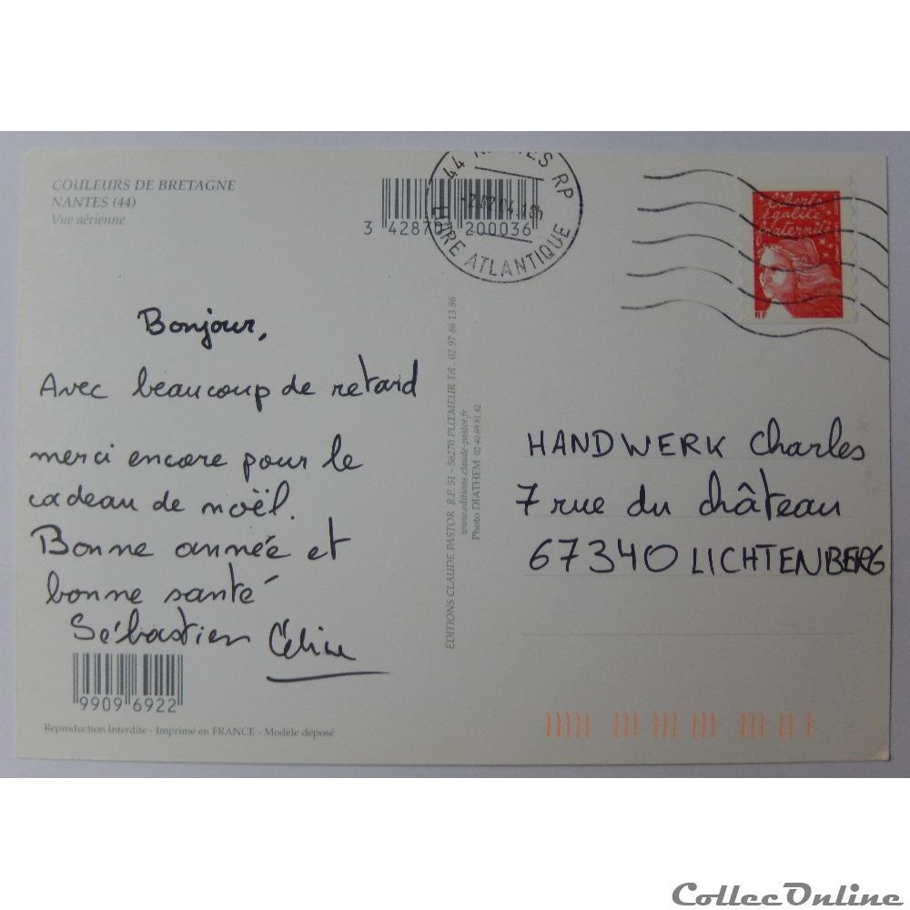 carte postale france pay cp de loire atlantique nantes