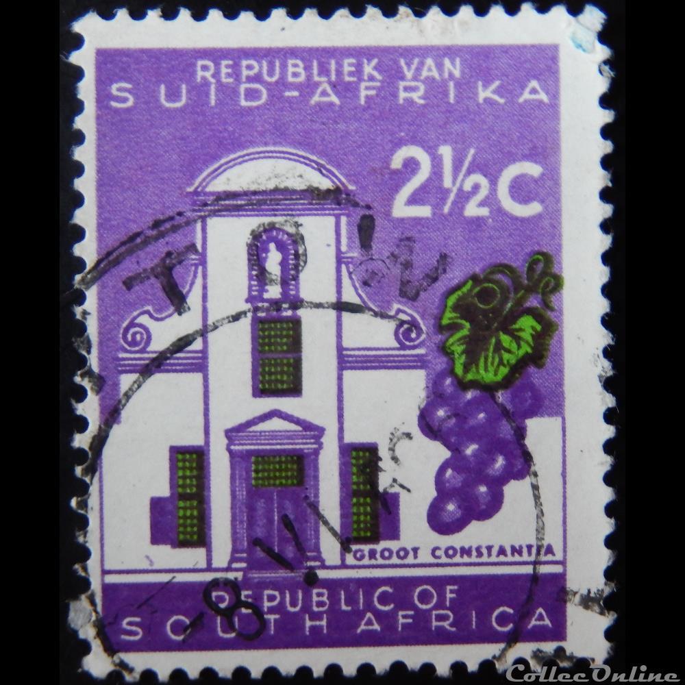 timbre afrique du sud 00252 groot constantia 2 1 2c de 1961