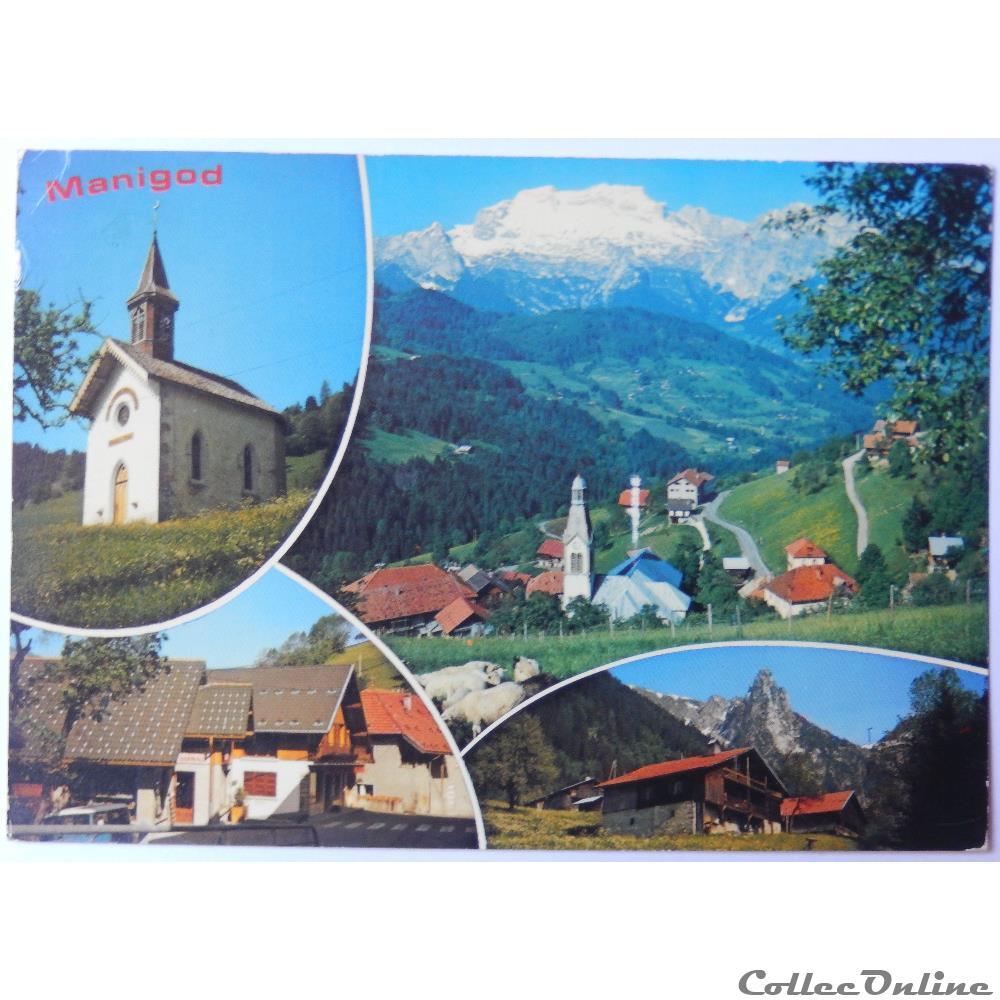 carte postale france rhone alpe cp de haute savoie manigod