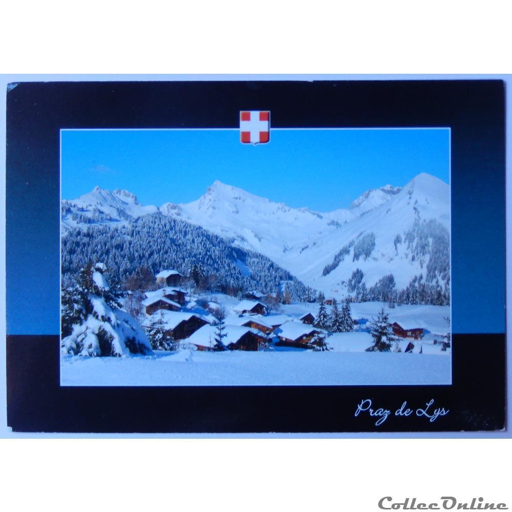 carte postale france rhone alpe cp de haute savoie praz de lys