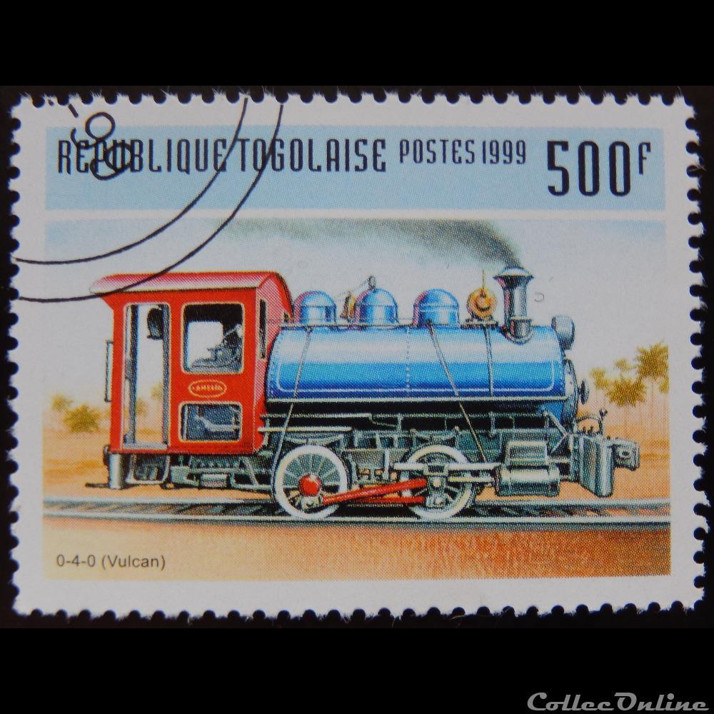 timbre afrique togo 01688f locomotive vulcan 0 4 0 500f de 1999