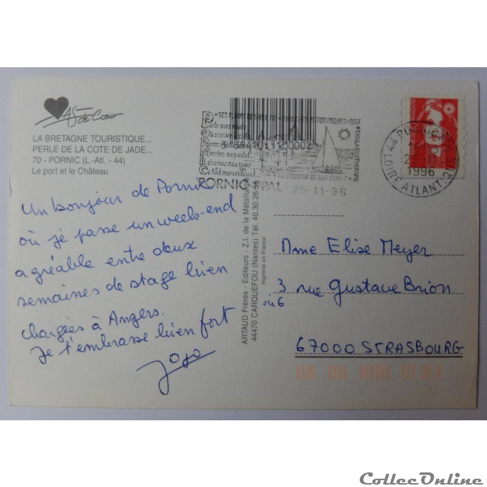 carte postale france pay cp de loire atlantique pornic