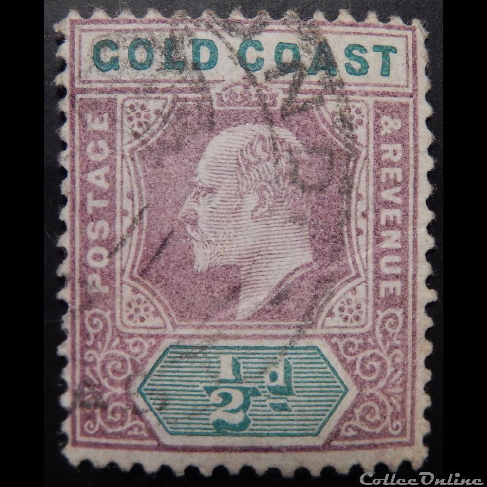 timbre afrique ghana cote or 00038 roi edward vii 1 2d de 1902