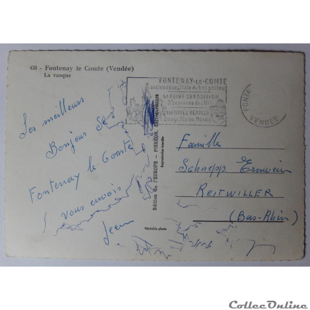 carte postale france pay loire cpa de vendee fontenay le comte la vasque