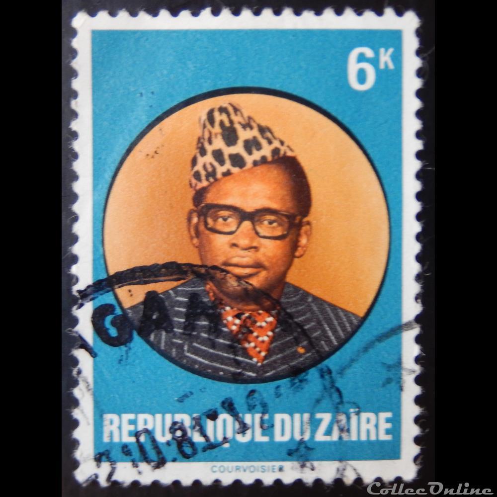 timbre afrique republique democratique du congo zaire 00936 president mobutu 6k de 1978