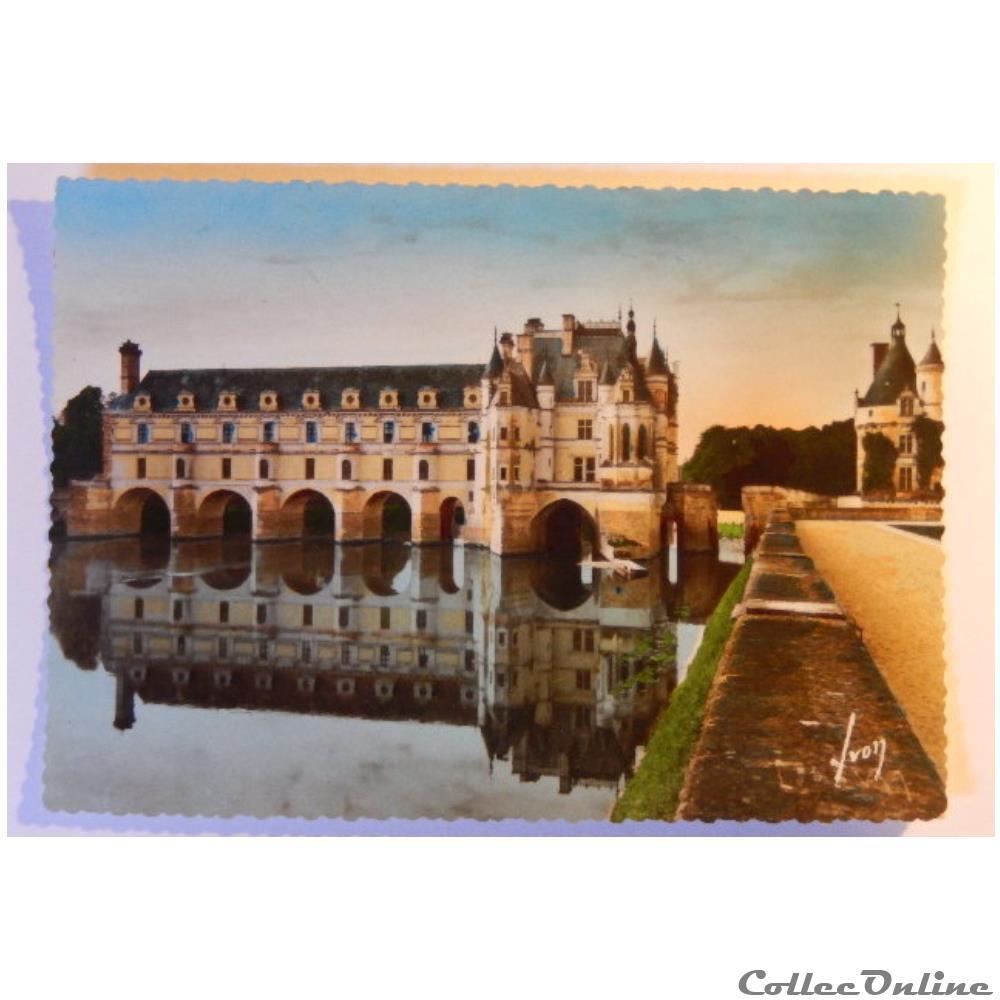 carte postale france centre cpa de indre et loire le chateau de chenonceaux
