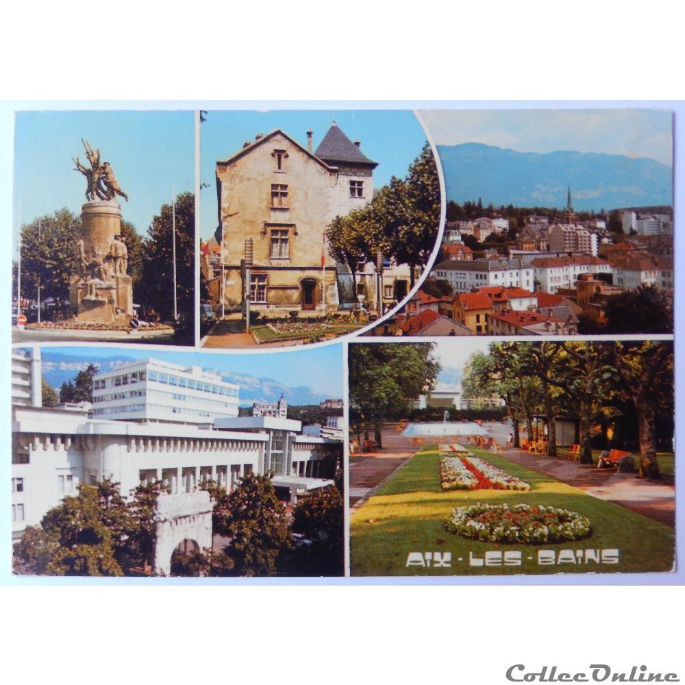 carte postale france rhone alpe cp de savoie aix les bains