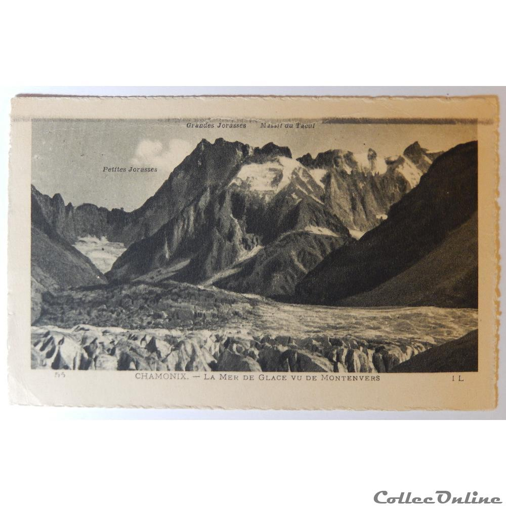 carte postale france rhone alpe cpa de haute savoie chamonix la mer de glace