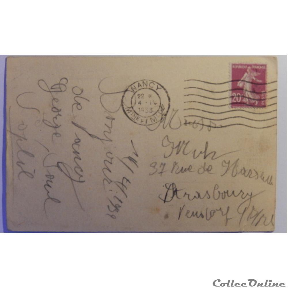 carte postale france lorraine cpa de meurthe et moselle nancy