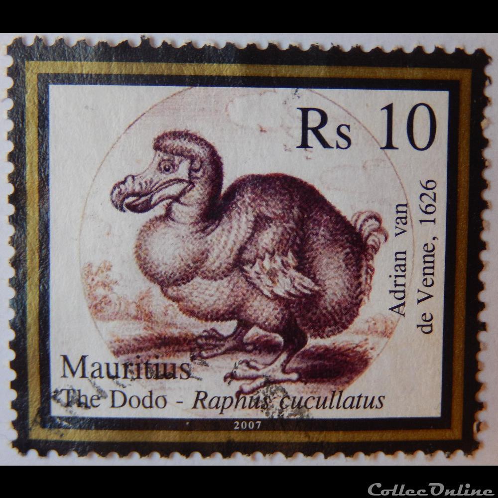 timbre afrique maurice ile 01079 dodo de 10 rs de 2007