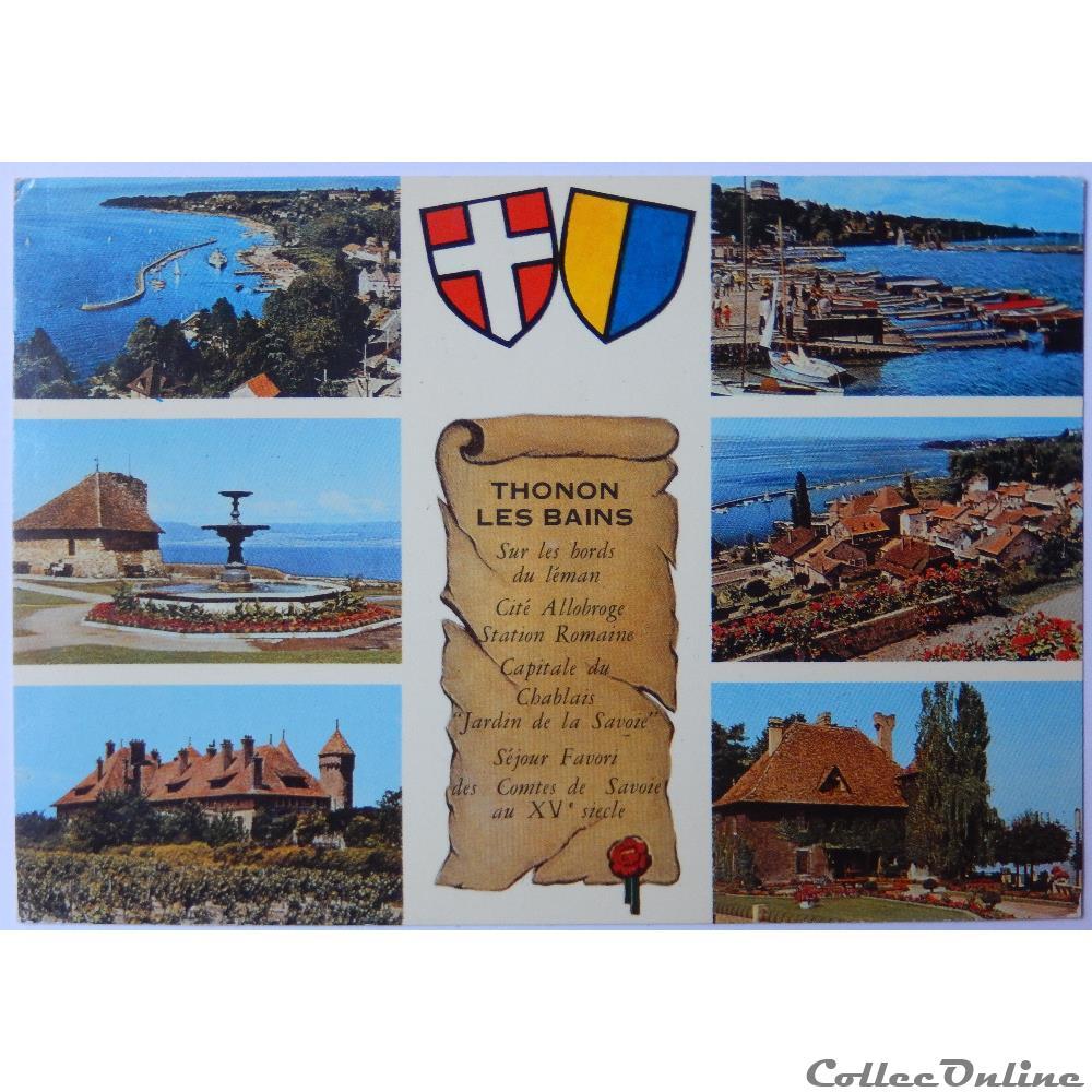 carte postale france rhone alpe cpa de haute savoie thonon les bains