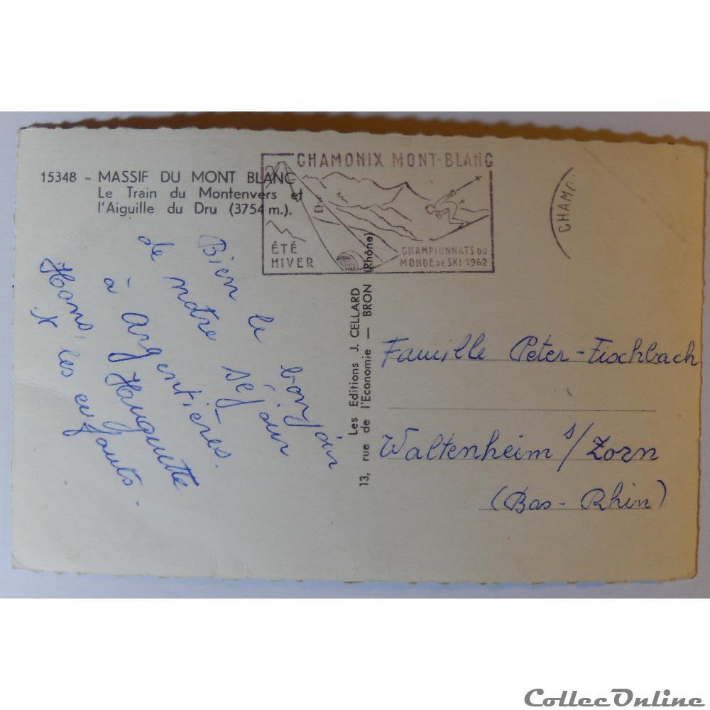 carte postale france rhone alpe cpa de haute savoie le massif du mont blanc
