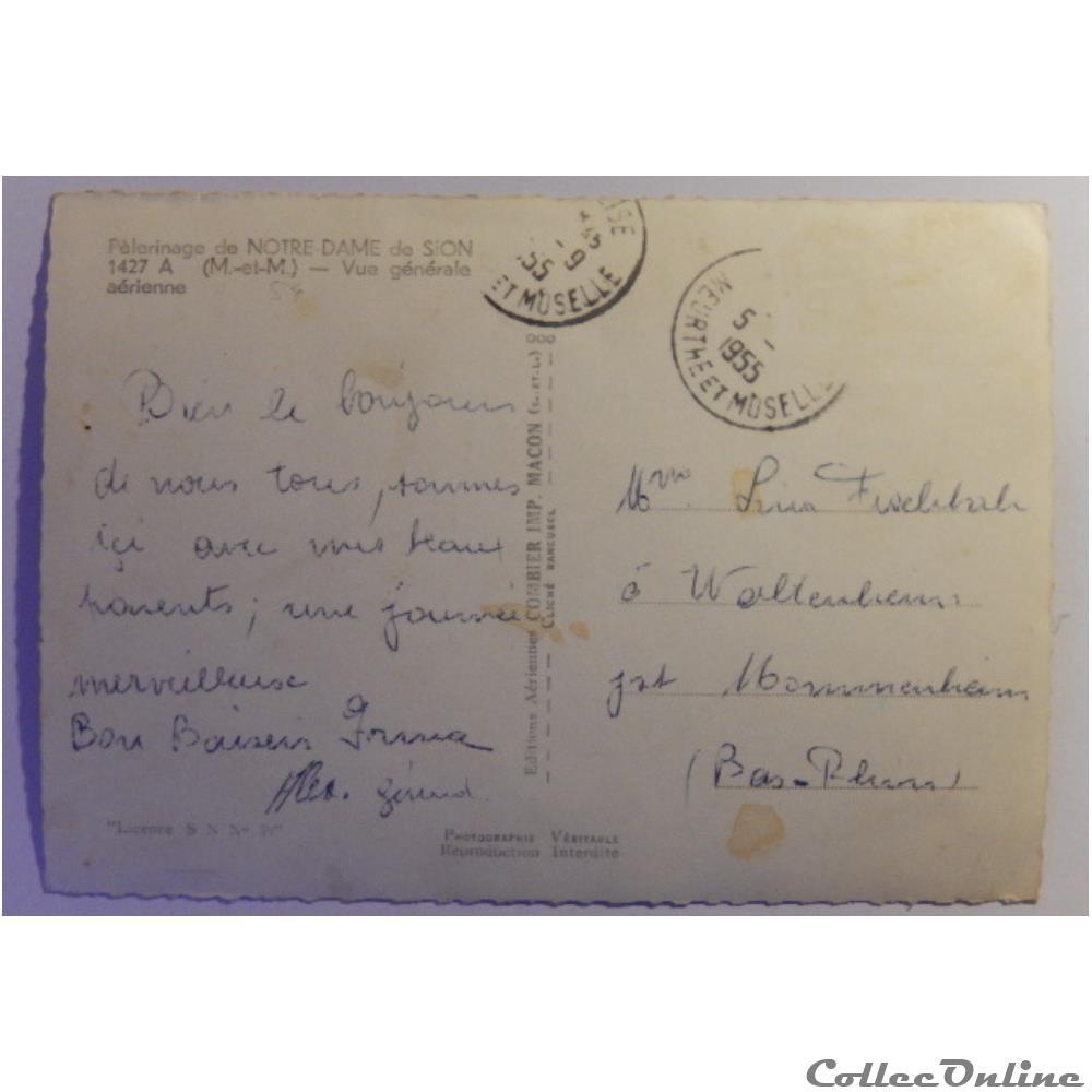 carte postale france lorraine cpa de meurthe et moselle notre dame de sion