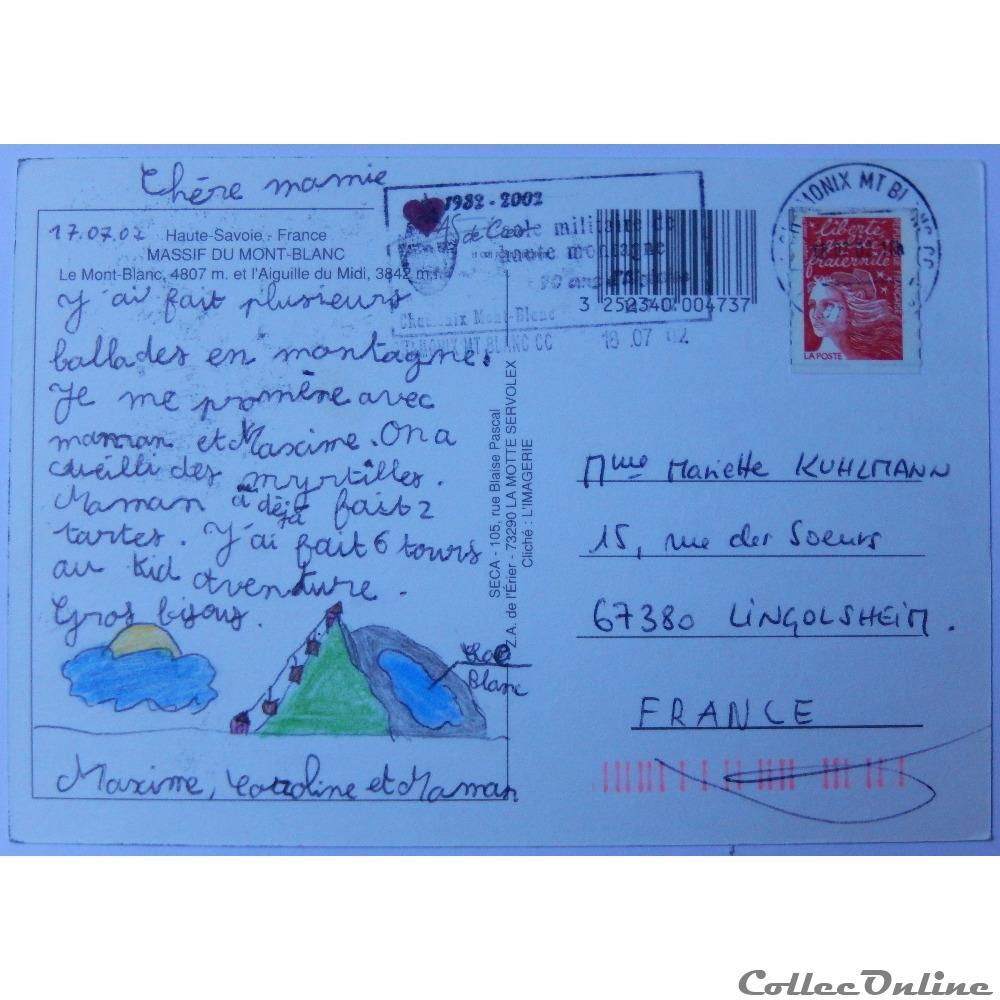 carte postale france rhone alpe cp de haute savoie mont blanc