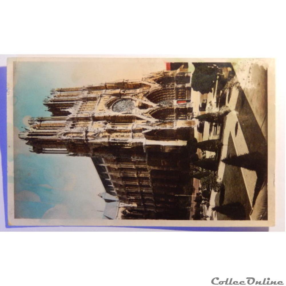 carte postale france champagne ardenne cpa de la marne reims la cathedrale