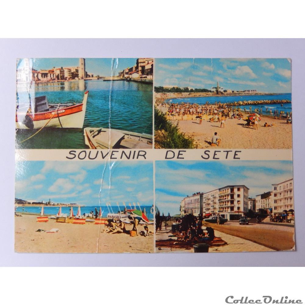 carte postale france languedoc roussillon cpa de herault sete