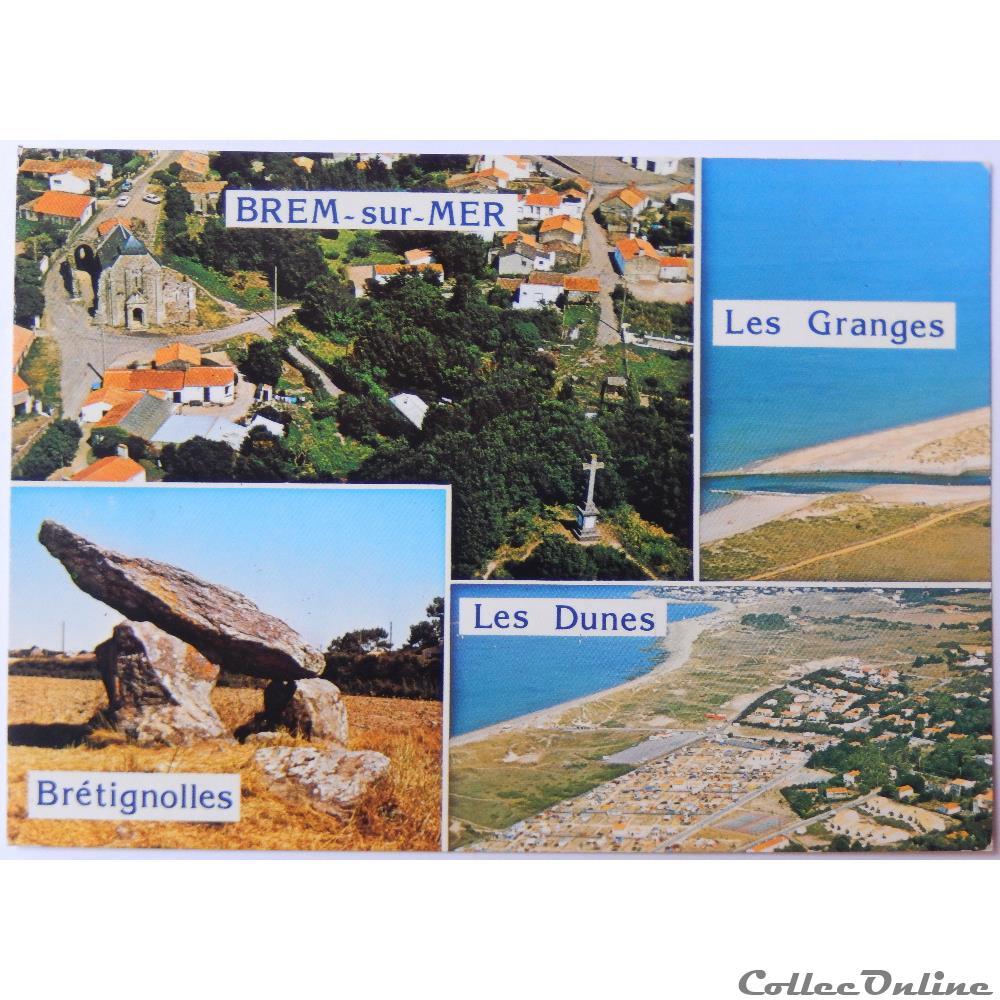 carte postale france pay la loire cp de vendee brem sur mer