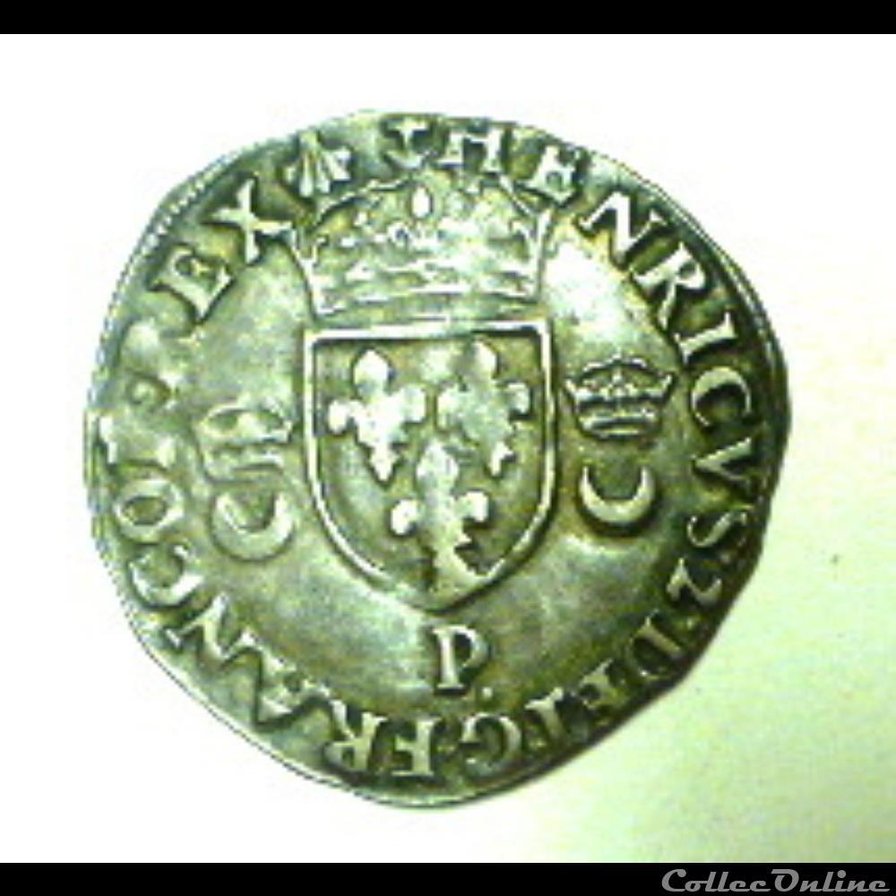 monnaie france royale henri ii douzain aux croissants 1557