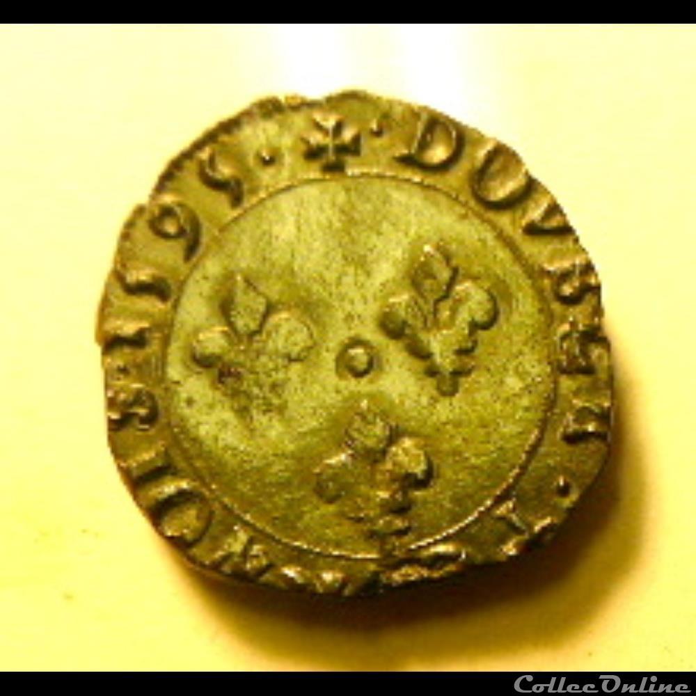 monnaie france royale charles x double tournois 1595 p