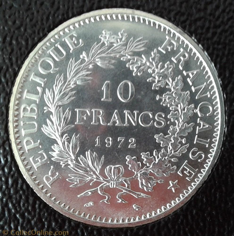 monnaie france a moderne 1972
