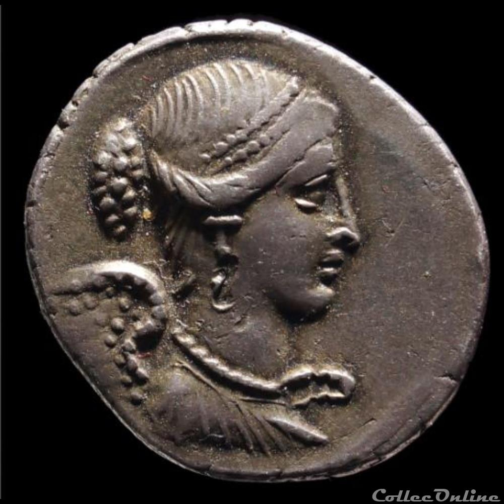 coin ancient roman carisia denier