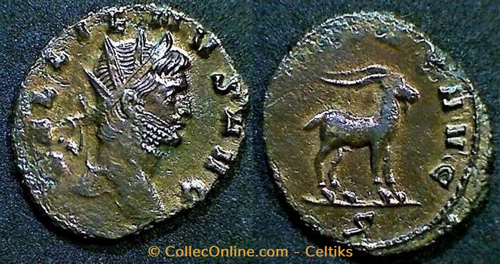 monnaie antique av jc ap romaine republicaine imperiale gallien chevre a droite