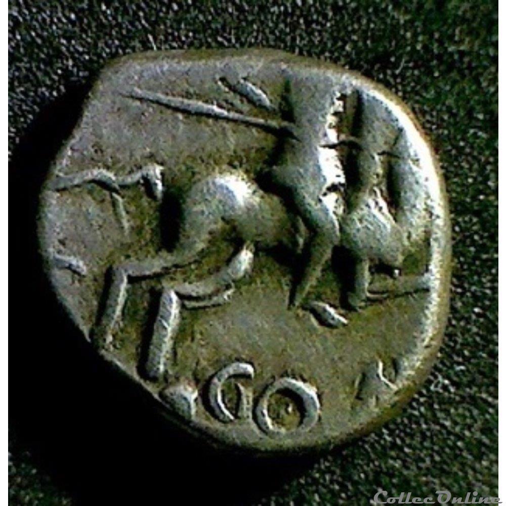 monnaie antique gauloise serie 869 groupe a denier au cavalier
