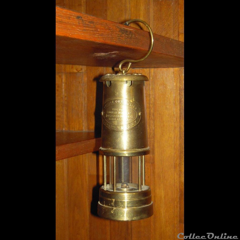 art antiquite luminaire lampe mine a petrole
