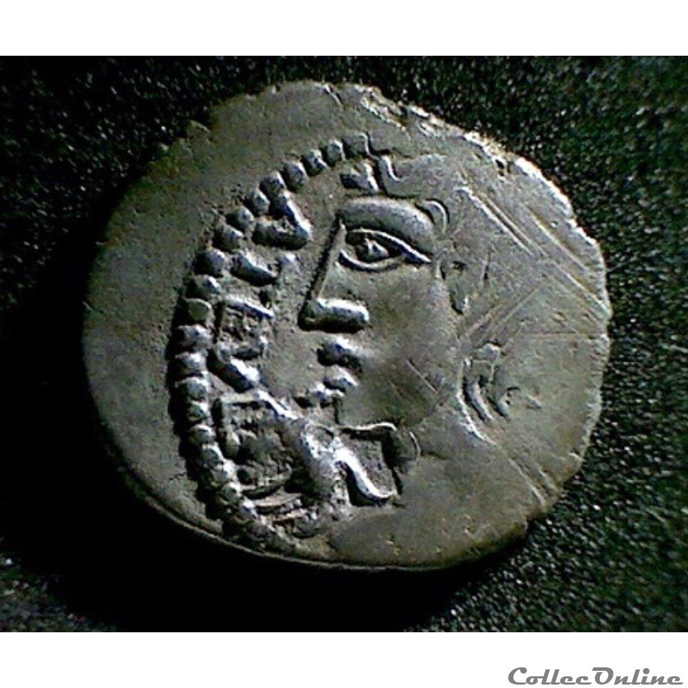 monnaie antique gauloise serie 83 dt 641 quinaire atela vlatos a epis et a la fleur