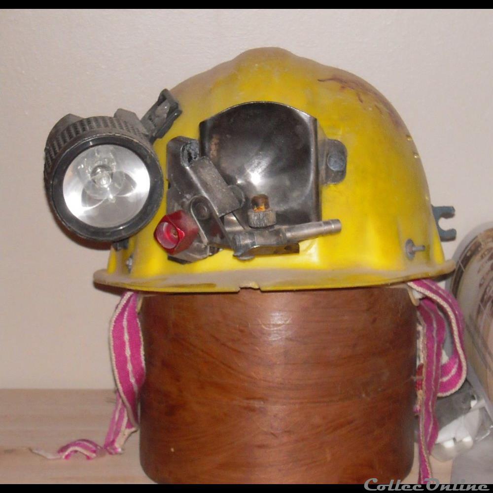 art antiquite luminaire mine casque speleo 1